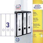 Avery-Zweckform Ordneretiketten lang, brede ordners L4759-25 ( ),Wit, Rechthoek, Afgeronde hoeken, 75 stuks, Permanent h
