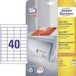 Avery-Zweckform Universele etiketten 4780 ( 48.5 mm x 25.4 mm ),Wit, 1000 stuks, Permanent hechtend