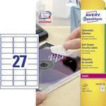 Avery-Zweckform Veiligheidsetiketten L6114-20 ( ),Wit, 480 stuks, Permanent hechtend