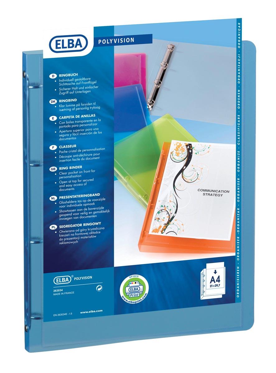 Elba Personaliseerbare ringmap Polyvision blauw