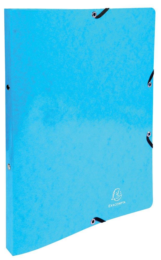 Exacompta Iderama ringmap, voor ft A4, 2 ringen van 15 mm, met elastosluiting, lichtblauw