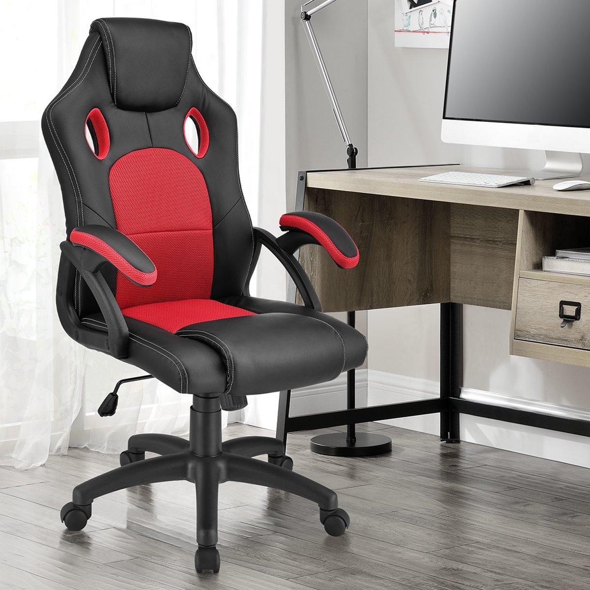 Bureaustoel / gamingstoel - Rood