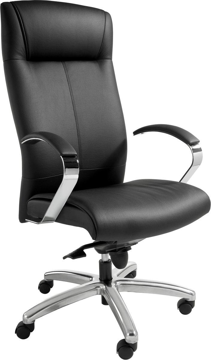 Directiefauteuil in zwart leatherlook - directiestoel