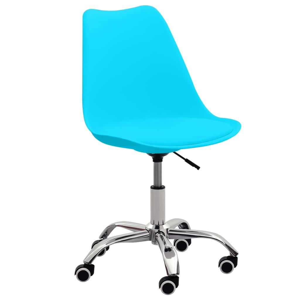vidaXL Kantoorstoelen 2 st kunstleer blauw