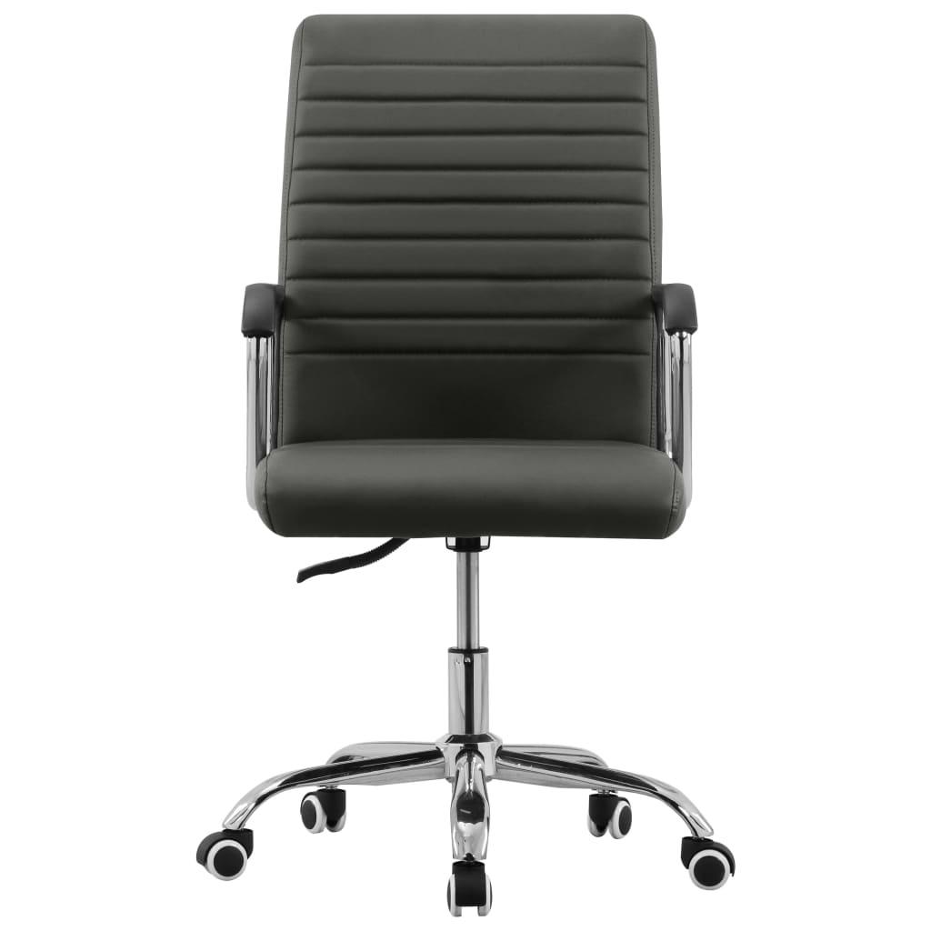 vidaXL Kantoorstoel draaibaar stof antracietkleurig