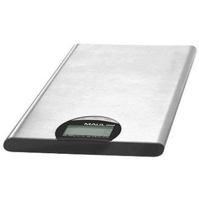 Brievenweegschaal Maul MAULsteel 2000 G Weegbereik (max.) 2 kg Resolutie 1 g Werkt op batterijen Zilver