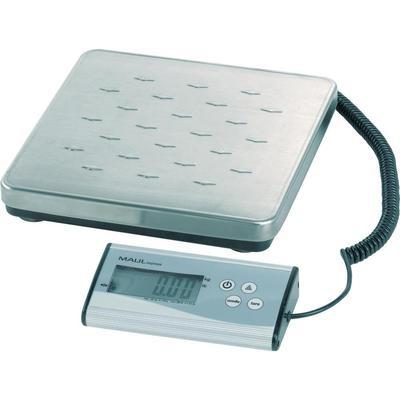 Pakketweegschaal Maul 17997 09 Weegbereik (max.) 120 kg Resolutie 50 g Werkt op batterijen Zilver