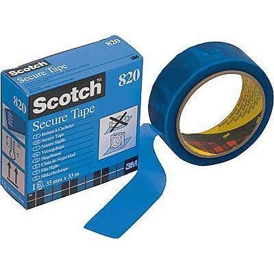 3M Scotch verzegeltape/8203533B 33 m x 35 mm blauw (l x b) 35 mm x 33 mm Blauw Inhoud: 1 stuks