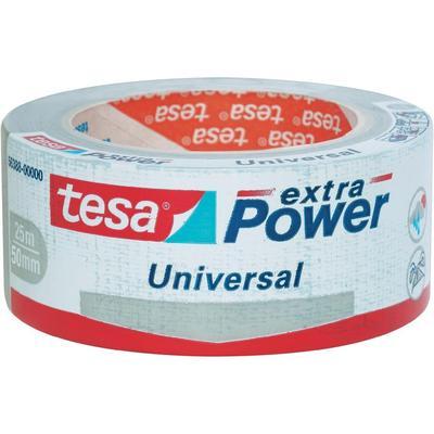 TESA TESA EXTRA POWER Tesa extra power textieltape (l x b) 25 m x 50 mm Zilver Inhoud: 1 rollen