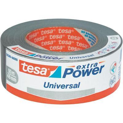 TESA TESA EXTRA POWER Tesa Extra Power weefselband (l x b) 50 m x 48 mm Zilver Inhoud: 1 rollen