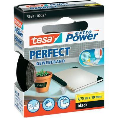 TESA TESA EXTRA POWER Tesa Extra Power textieltape (l x b) 2.75 m x 19 mm Zwart Inhoud: 1 rollen
