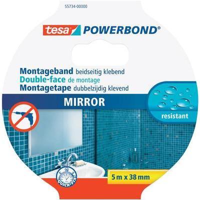 TESA 55734-00000-01 Montagetape voor spiegels, extra sterk (l x b) 5 m x 38 mm Inhoud: 1 rollen