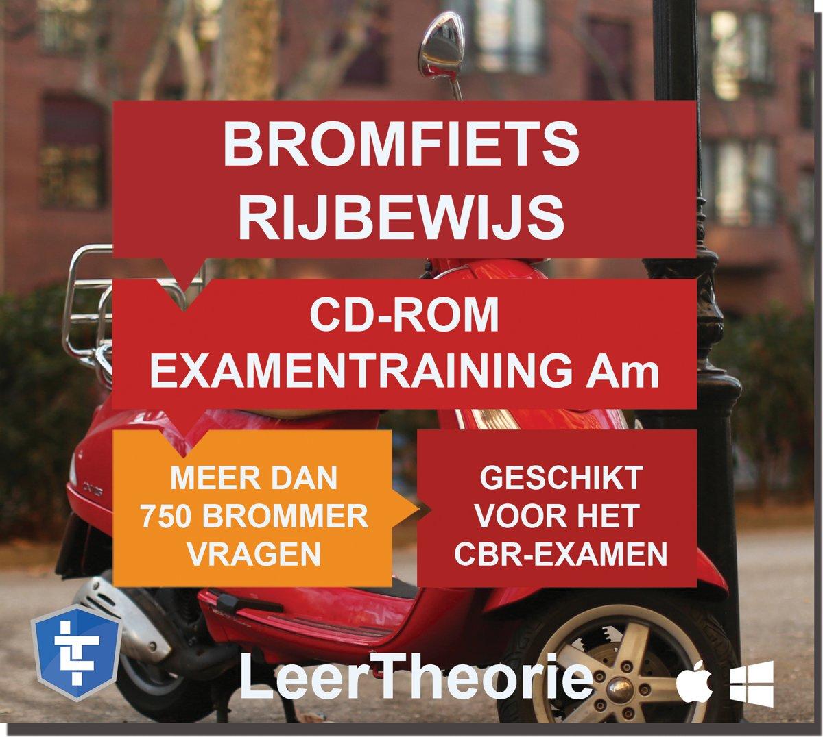 Scooter rijbewijs am - cd-rom 2020 bromfiets examentraining am - 750 oefenvragen - 15 theorie examens - ontworpen voor het cbr theorie-examen