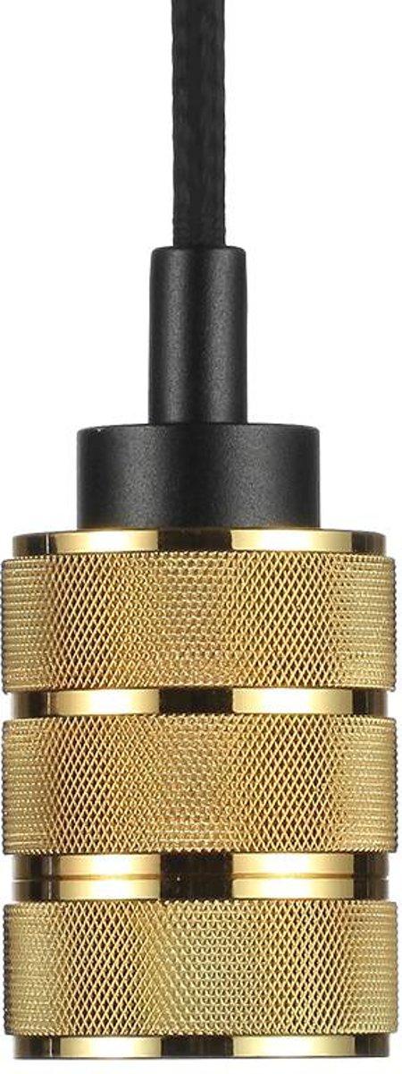 Snoerpendel aluminium E27 goud
