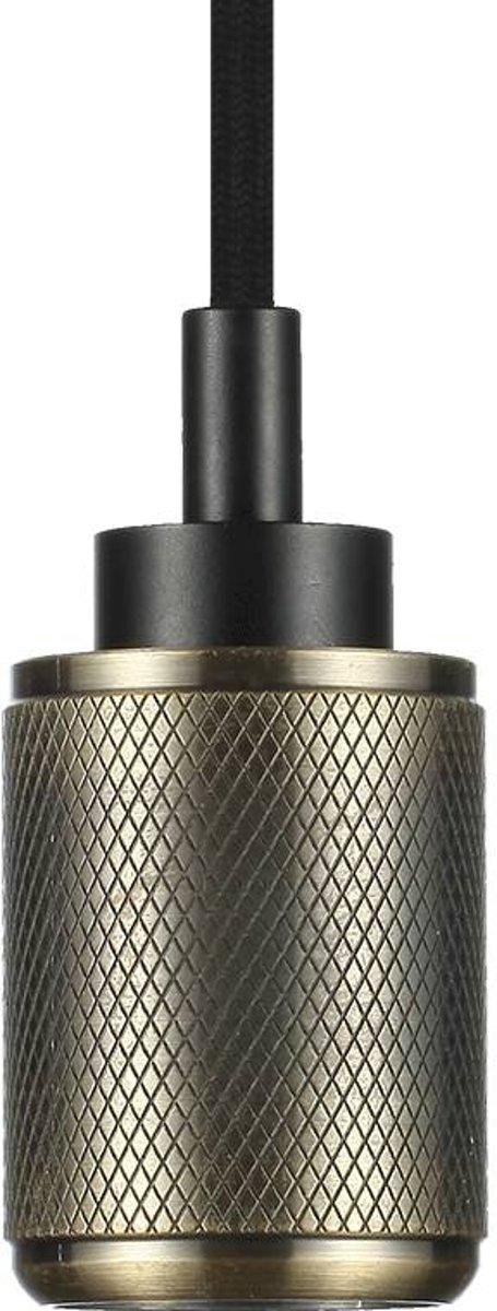 Snoerpendel aluminium E27 brons