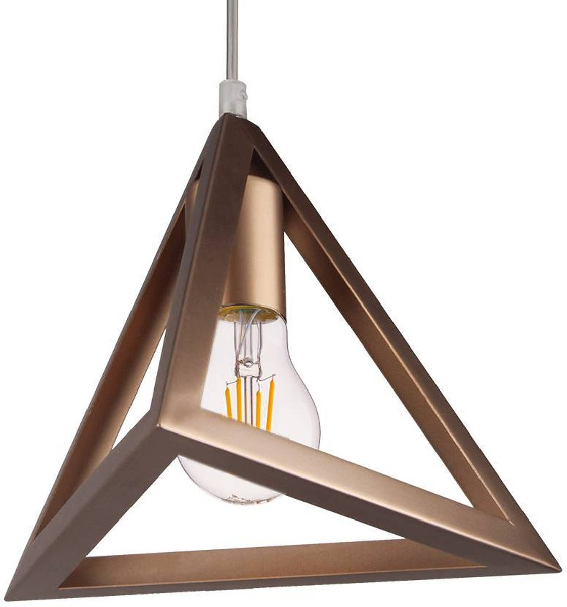 Hanglamp Geometric Piramide E27 champagnegoud