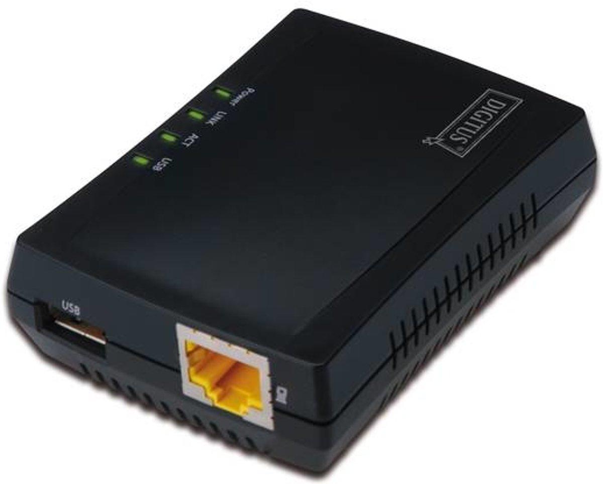 Digitus DN-13020 print server Ethernet LAN Zwart