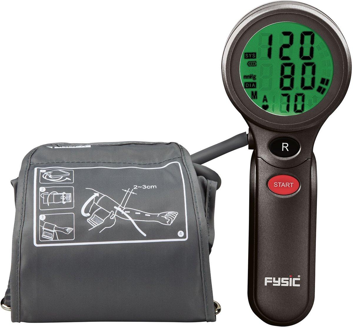 Fysic FB-180   Bovenarm bloeddrukmeter   Zwart /Grijs