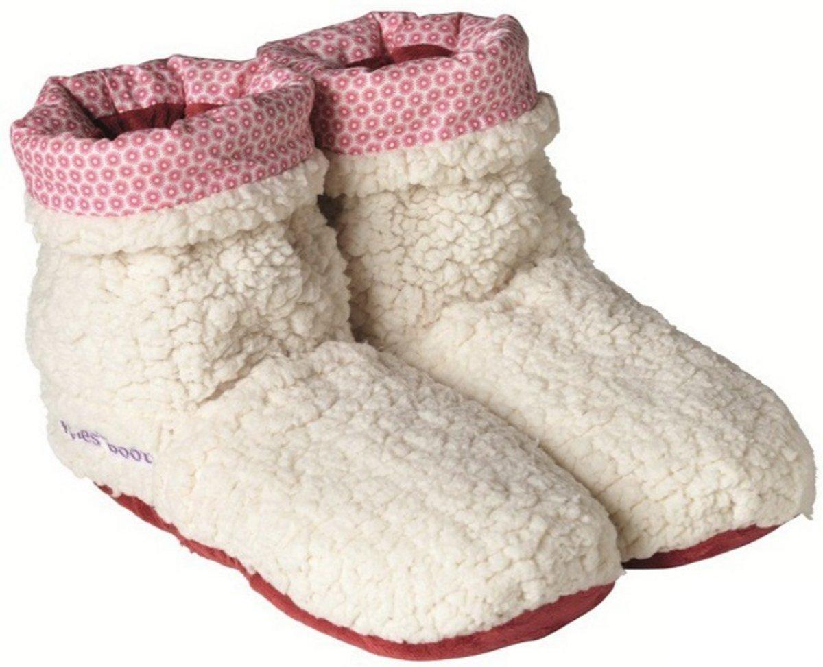 Warmies Slippies Boots Sherpa Beige Maat 37-42 Paar