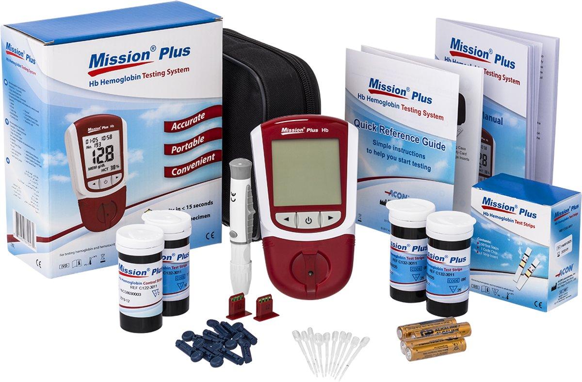 Mission Plus Hb Hemoglobine Meter Starterspakket