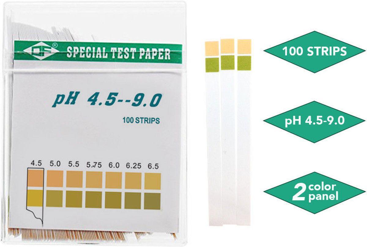 100 pH test strips voor speeksel of urine