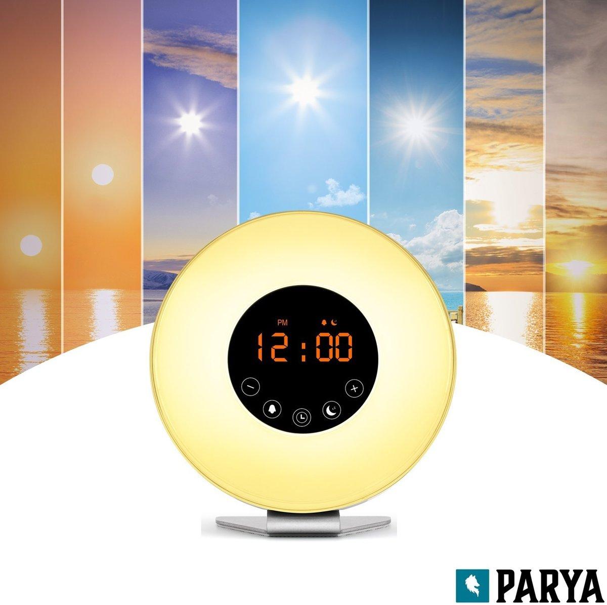 Wake up light met verschillende kleuren - lichtwekker met fm radio