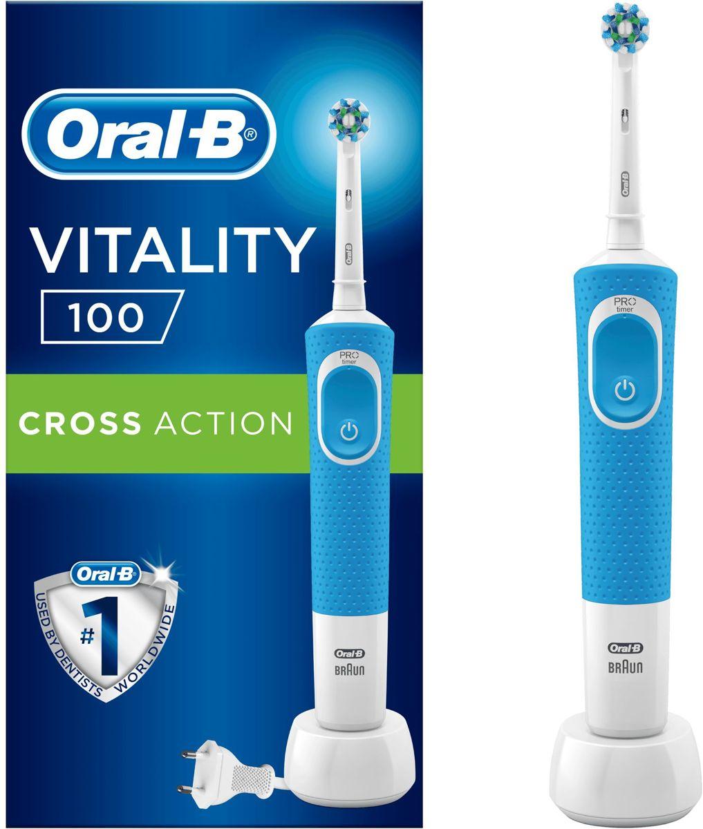 Oral-B Vitality 100 Blauw CrossAction Elektrische Tandenborstel Powered By Braun