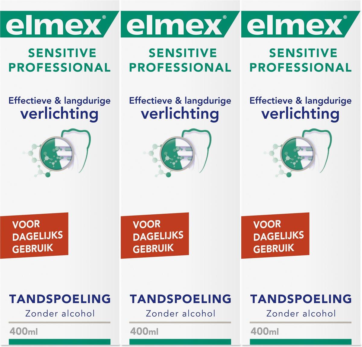 Elmex Sensitive Professional Mondwater 3x 400 ml