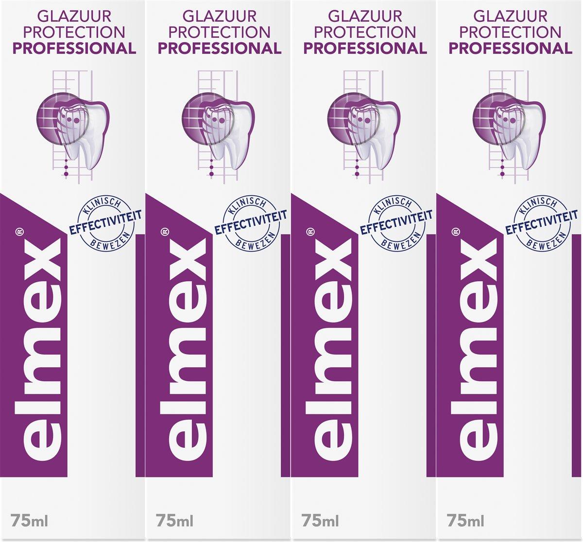 Elmex Glazuur Protection Tandpasta 4x 75 ml