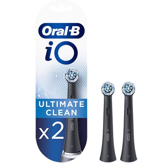 Oral-B iO Ultimate Clean Black Opzetborstels - 2 stuks