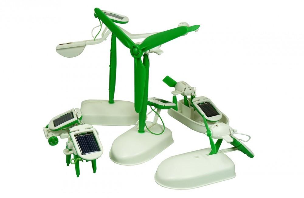 PowerPlus Junior Educatieve Solar 6 in 1 Eco Speelgoed Set - Chameleon