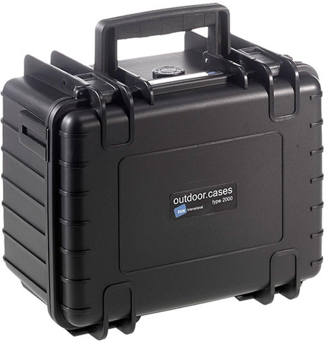 B&W Outdoor Case Type 2000 - Zwart met Plukschuim