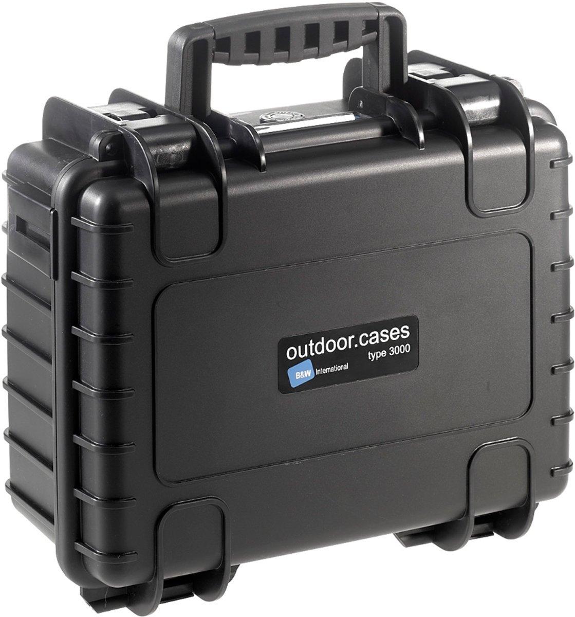 B&W Outdoor Case Type 3000 - Zwart met Vakverdeler