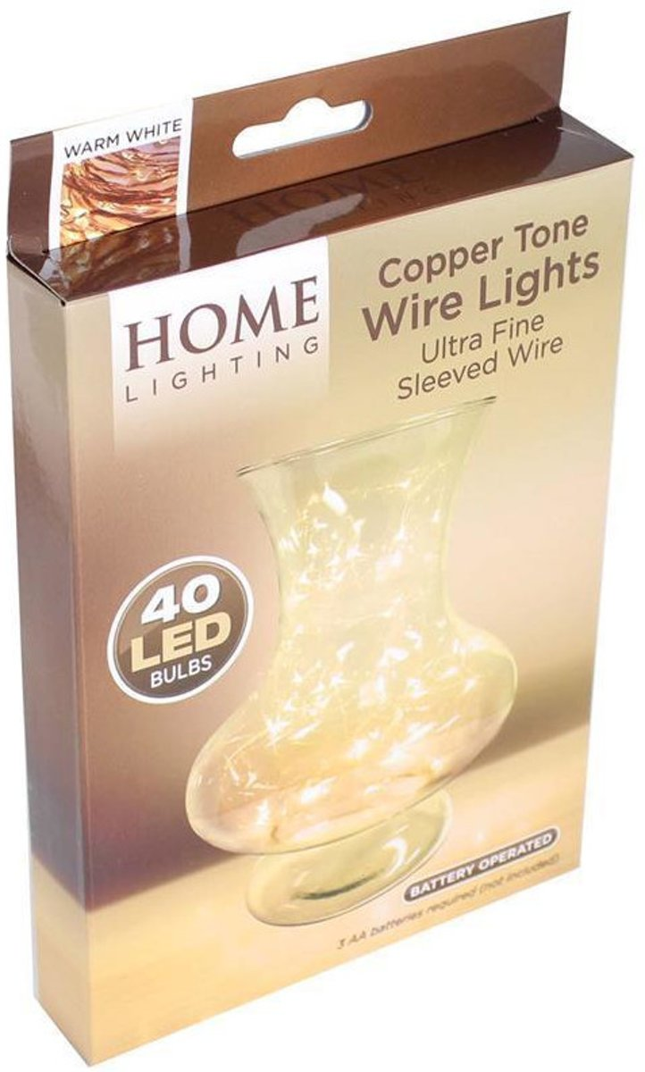 Kamparo led-lichtsnoer 40 led-lampjes wit