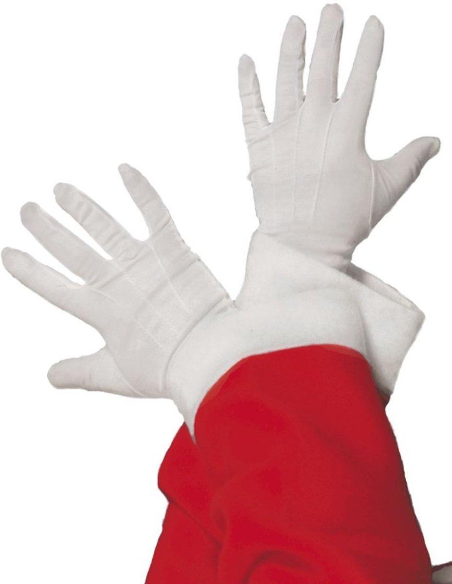Korte witte Handschoenen | Kerstman /Sinterklaas
