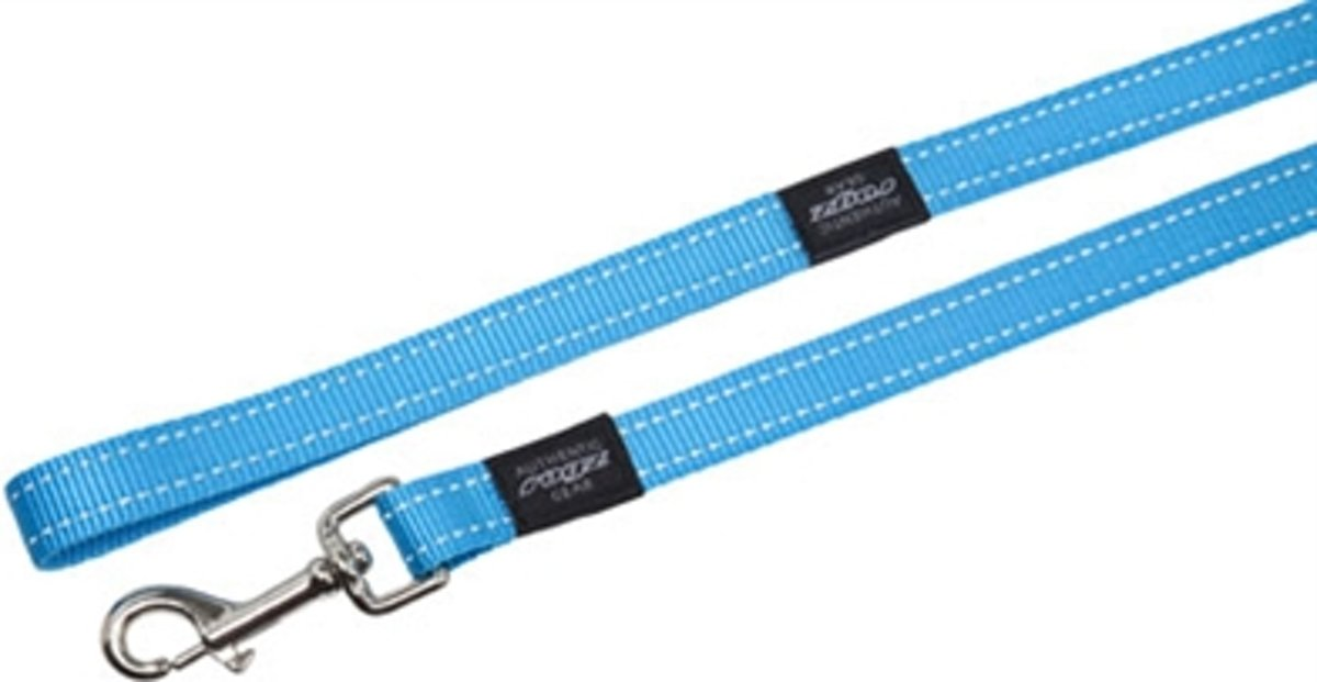 Rogz For Dogs Fanbelt Long Hondenriem - 20 mm x 1.8 m - Turquoise