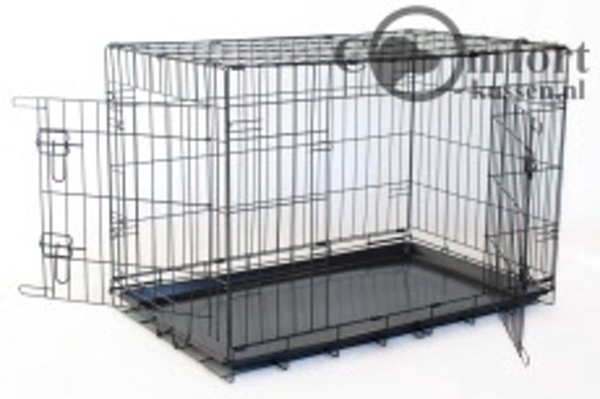 Hondenbench zwart 107x71 cm