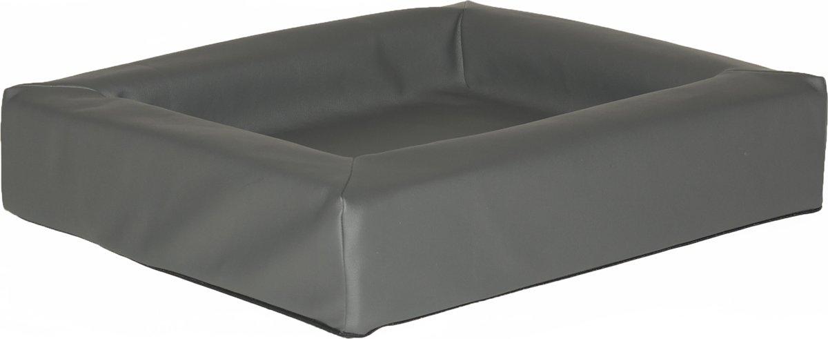 Comfort-Kussen hondenmand leatherlook 100 x 80 x 15 cm - Antraciet