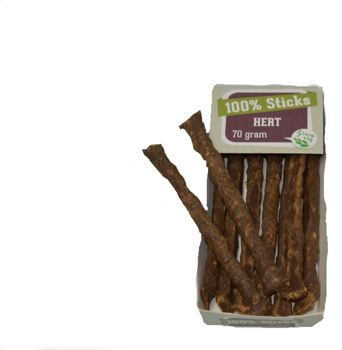 100%-Herten-sticks-hondensnacks- 10 x 70 gram