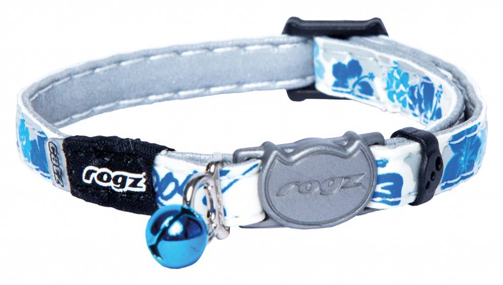 Kattenhalsband GlowCat Blue Floral