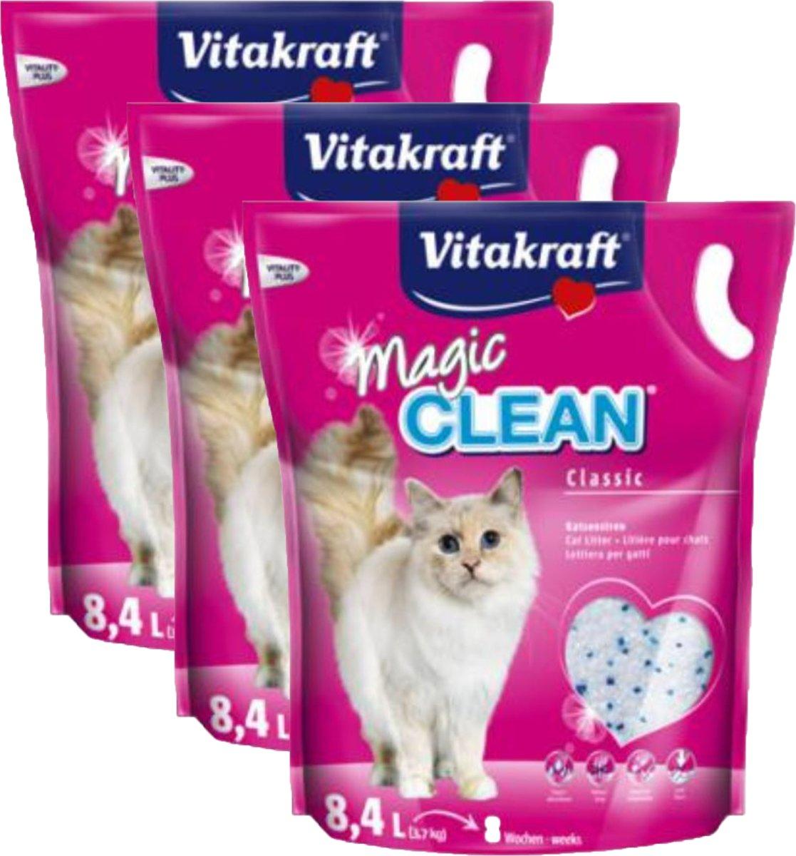Vitakraft Magic Clean Kattenbakvulling - 3 x 8,4 l