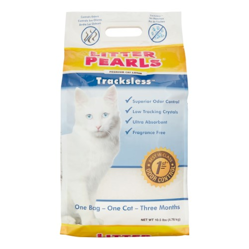 Crystal clear litter pearls tracksless
