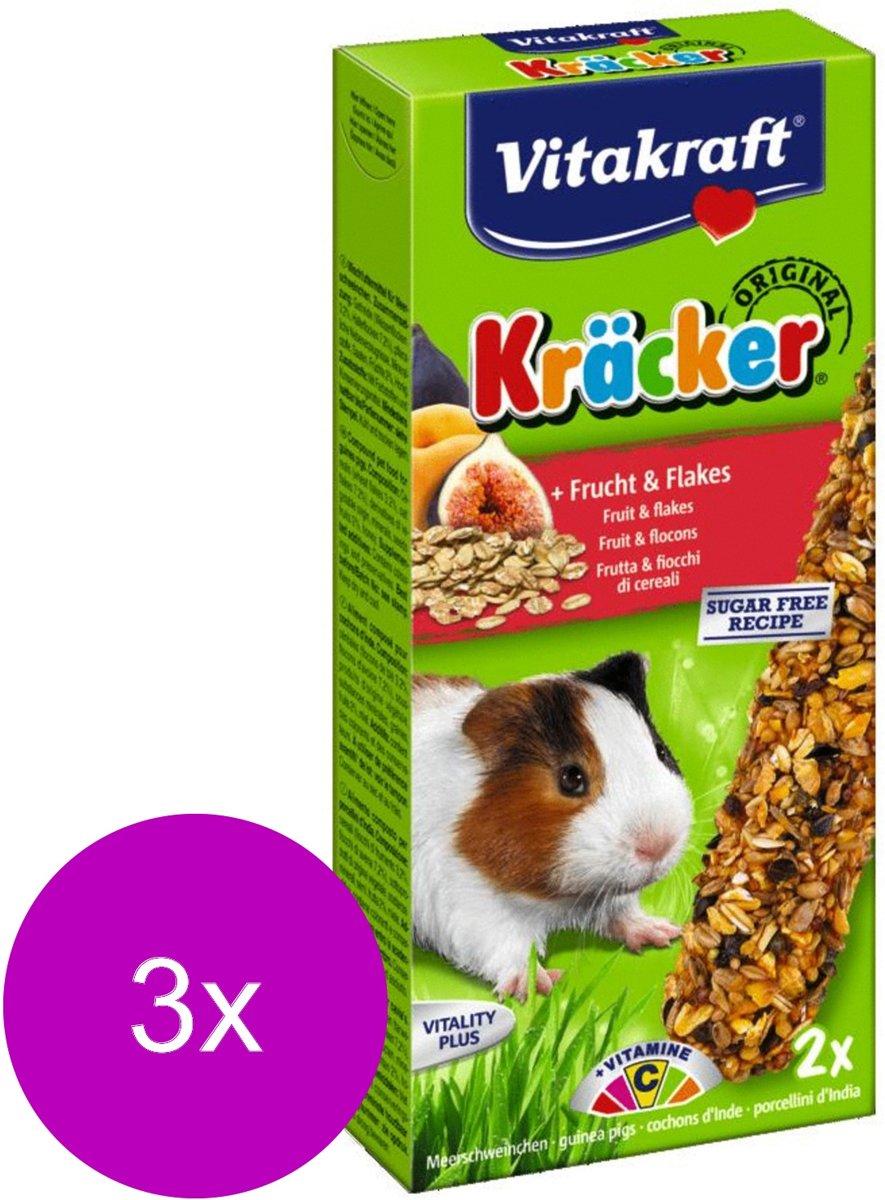 Vitakraft Cavia Kracker - Knaagdiersnack - 3 x Fruit