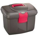 Kerbl poetskoffer Roma zwart/roze 328269