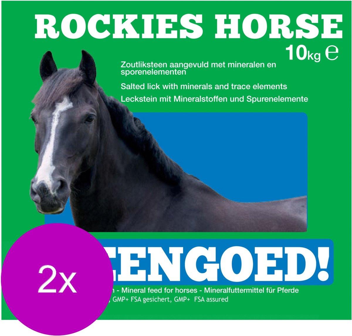Rockies Liksteen Paard Naturel - Voedingssupplement - 2 x 10 kg