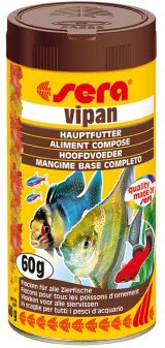 Sera Vipan vlokken visvoer voor gemend aquarium 100ml