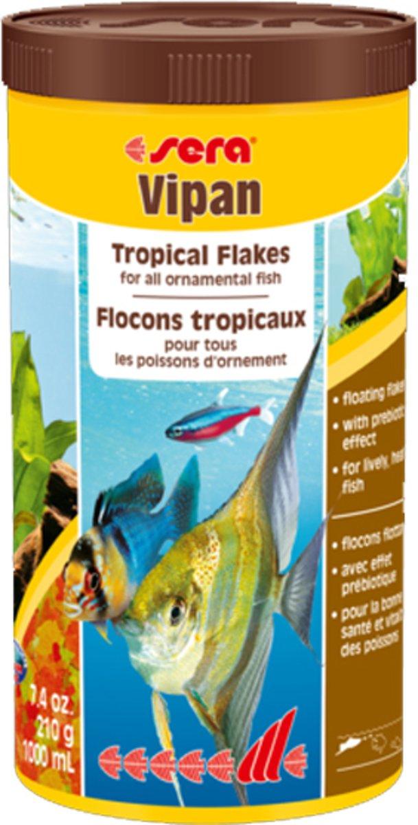 Sera Vipan vlokken visvoer grote vlok gemengd aquarium 1000ml