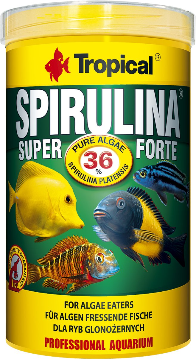 TROPICAL visvoer spirulina super forte 36% flakes - 200G/1000ML