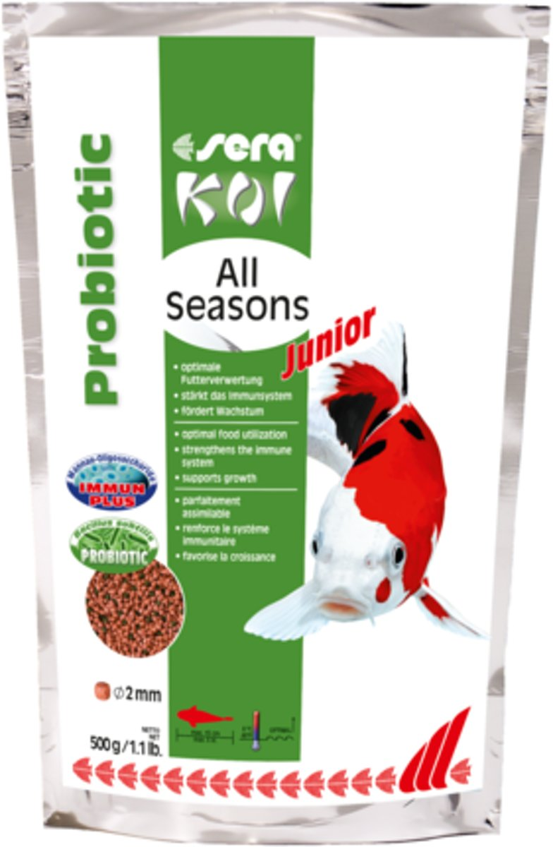 Vijvervisvoer - Sera Koi Junior All Seasons - 500g