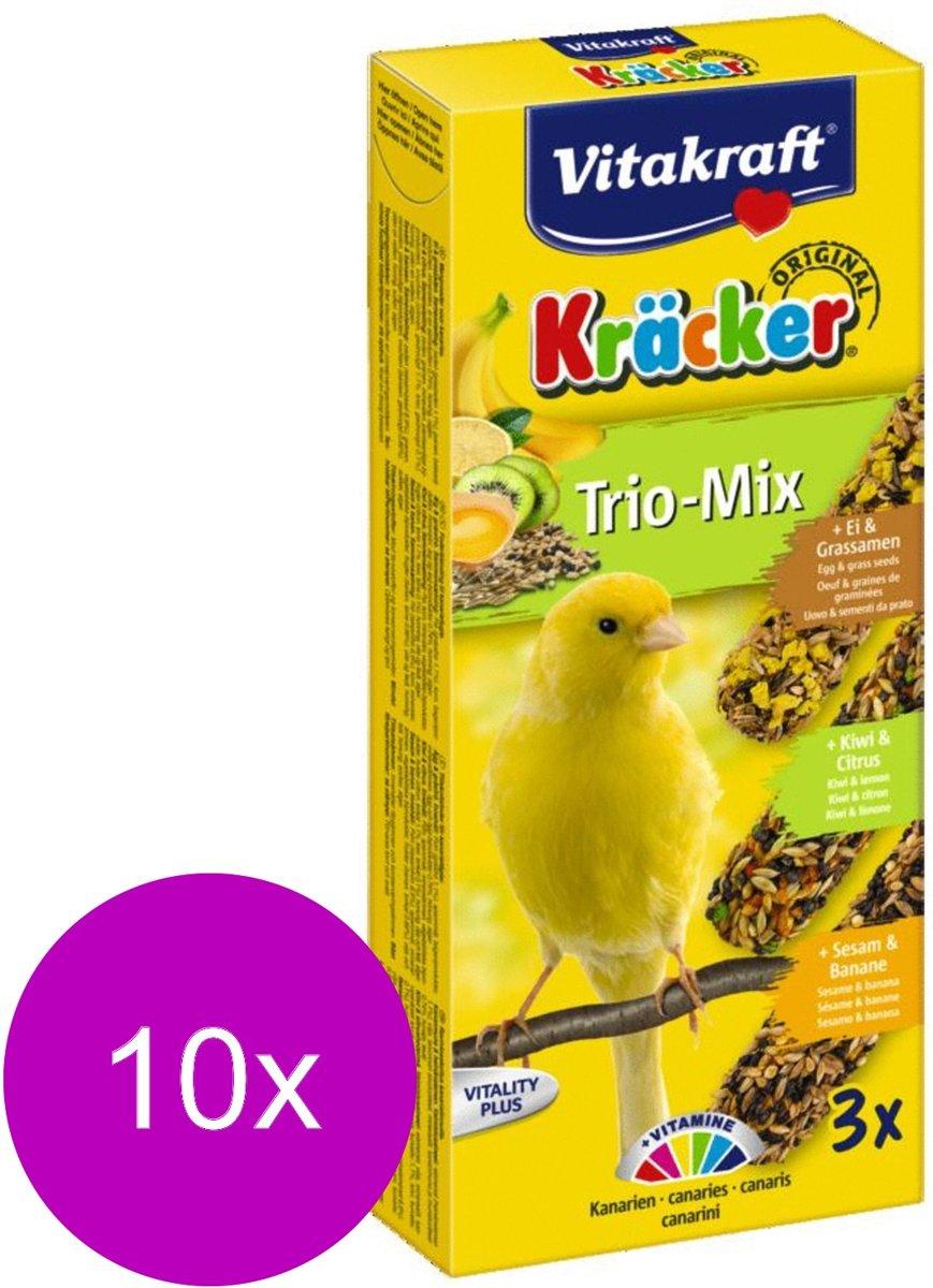 Vitakraft Kanarie Kracker 3 stuks - Vogelsnack - 10 x Sinaasappel&Sesam&Kiwi
